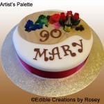 Artists palette cake